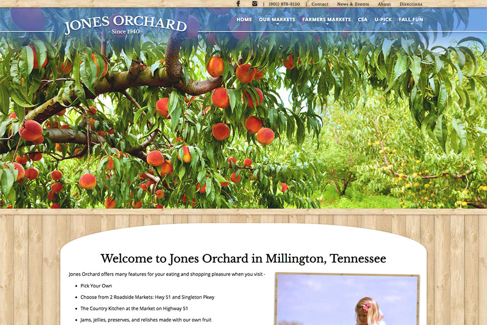 Website design and e-newsletters for farms, markets, ranches, and