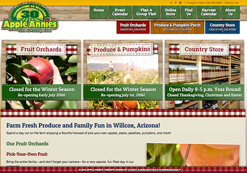 Proven effective farm website design and marketing by Eckert AgriMarketing's Farm Web Design.